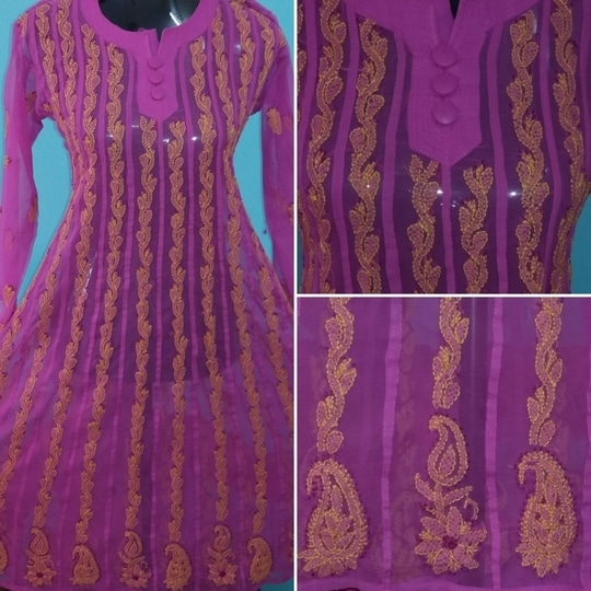 #girlslovepink #verygoodquality #different shade from regular #pink with #yellow  work #georgette #anarkali in #chikankariwork   FULL #backside has same work as in front #look #bright and #beautiful this #winter with this #lovely shade in #pink  #dailyfashion #officewear #dailywear #stylishwear  #differentlook  #fusionwear    #nocopy #singlepiece #colour #guranteed  #regularwash    #buynow #morecolorsavailable    To order: #chattobuy or connect on 9167248098   Payment options: Bank transfer/ cheque/ paytm Cash accepted in Mumbai region #kurtis