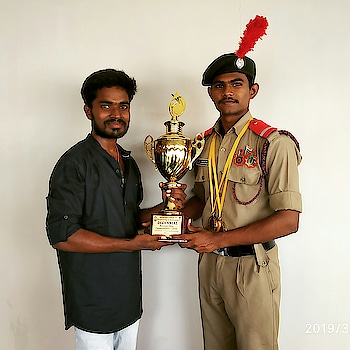 #ncc #ncccadets #nccday #indian #roposo #risingstar #supercool #trophy