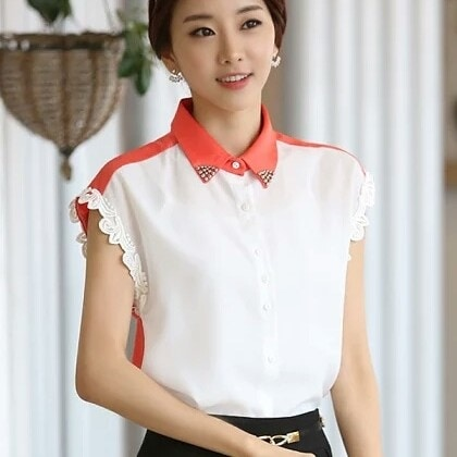 Studded  Orange Shirt  Price  539  https://trendyfashionbeat.wooplr.com/product/etiquette/6638098521915392/studded-orange-shirt  PRODUCT INFORMATION  Punctuated with stud detailing on the collar and finished with lace detailing along the armhole, this dual toned shirt is simple yet sophisticated.  ATTRIBUTES  Material - Chiffon Pattern - Embroidered Color - White & Orange  #womenswear#top#shirt#studded#orangeshirt#fashion#fashionable#fashionista#prettyoutfit#forsale#buynow#wooplr#wooplrinfluencer#followme#exploremore