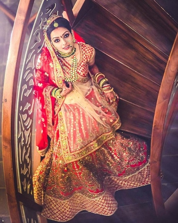being #traditional & beautiful #bridal look...👌