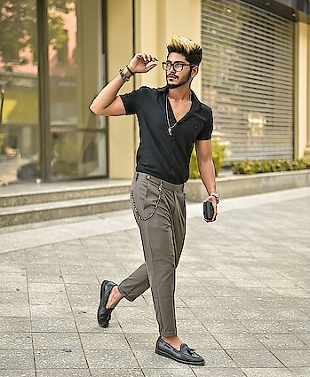 Trying to play classy in this basics !! . . . Hair by @hairfactorysurat . .  Outfit from @kollars.2018 . . Shot by @thedaydreamstudio . . #tsdfam #thestyledweller #black #grey #streetstyleformals #streetwear #menwithclass #menswear #mensfashion  #trouser #loafers #mensfashioninfluencer  #maleinfluencer #styleinfluencer #style #trend #shirt #blackshirt #summerformals #summerstyle #indianfashioninfluencer  #indianblogger  #surat  #suratinfluencer  #suratblogger  #india