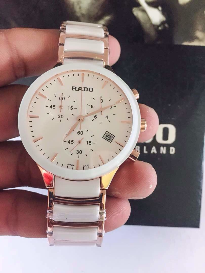 * Rado  * For men * 7A  * Orginal model * Feature; -Case shape- Round -Band colour-single colour -Band material- fully Ceramic metal -Chrono-Working chronograph, scratch resistant  & japanese machinery (7A) - Display- Analog -12 hr dial  - Crono working  **Price- Rs 3000/-include shipping * With Brand box 📦 **   #likeforlike  #like4follow #likeforfollow #radowatches #ceramicwatch #followforfollow #chronowatches #bangalorediaries #bangaloreblogger #indorefashion #noidablogger #patnafashion #kolkatafashionblogger #mumbaifashionblogger #delhifashionblogger  #watches