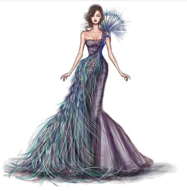 blue gown #designer-wear #dress