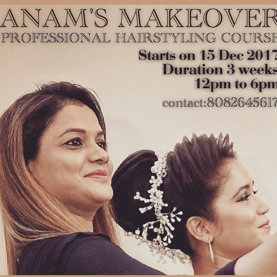 ANAM'S MAKEOVER #anamsiddique #hairstylist  fresh batch starts on 15Dec 2017 Contact~ 8082645617