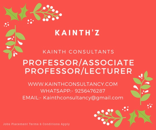 We are Hiring for #Professor #Associate #Lecturer #Education #Academy for all Streams, a person who gives, In academic administrations such as #colleges or #universities for our clients   Kainthz Jobs Juncture Inc Whatsapp: - 9256476287 #Email :- kainthconsultancy@gmail.com  Click here:- www.kainthconsultancy.com