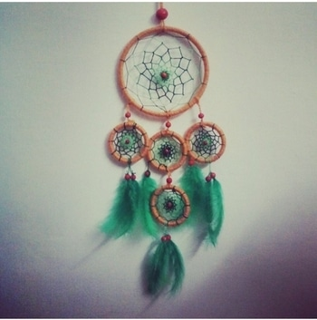 DIY Dreamcatcher  Dreamcatchers are my favourite thing to make. They are super easy to make and so much fun to look at. This is the first dreamcatcher that I ever made. I completed it in 3 hours. So, they don't take a lot of time to make and are an excellent gifting and decorating item.  Also this Dreamcatcher is made out of waste material. I know I am shocked that I pulled this one off.😝 . . #diy #roposotalenthunt #diyartist #diylover #diydecorations #roposogal #roposome #roposoblogger #soroposo #voteforme #dreamcatcher #dreamcatchetring #quickdiy #creative #creativeartist #creativespace #creativeideas