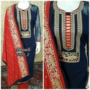 *MRP 1800+$*@ cwb1320 Shirt chanderi  silk embrodied   Work superb  Bottom  cotton  3maprx  Dupata chiffon  embroided  btfully 😍 For booking contact 8790064509