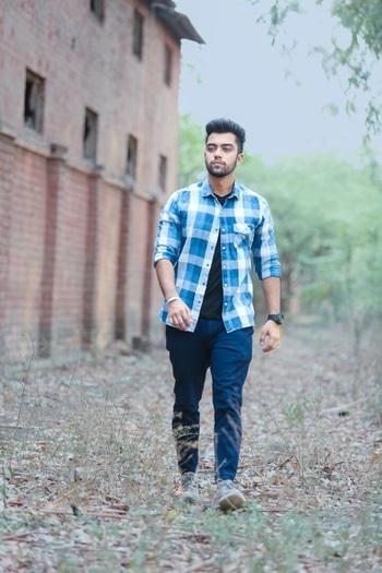 #blue #checks #denimshirt #zaraindia #ropo-love #roposo #blogging #blogoftheday #fashiondiaries #fashionindia #new-style #stylereport #like4like #modellife #model #modelsofinstagram #ftv #tvserial #showstopper #snap #snapchat #caneda #delhi #indian  #denim
