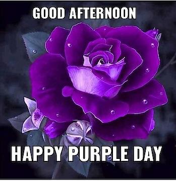 Happy purple day