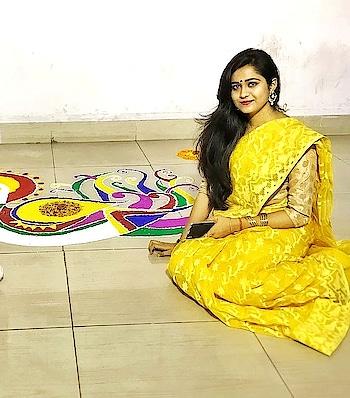 #rangoli #spring #throwback #colours #featureme #creative #roposogal  ❤️