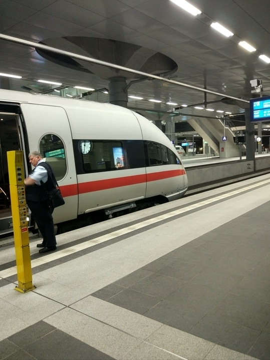 ICE : Fastest Train in Germany with speeds up to 350 Km/Hr and a lot of Comfort for the Passengers :)!!