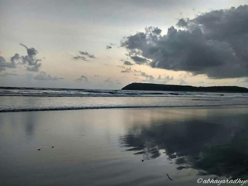 Beach #beach #sky #sea #reflection #water #hills