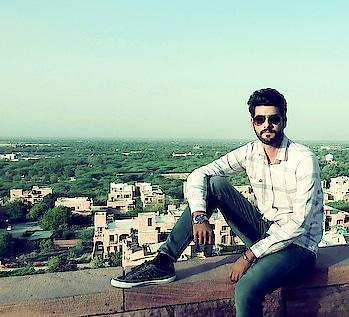 shirt - #unitedcolorsofbenetton  jeans - #wrangler shades - #rayban watch- #titan shoes-#sketcher   place - #jodhpur .