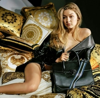 Supermodel Gigi hadid poses naked for stunning Versace campaign #reallyhot