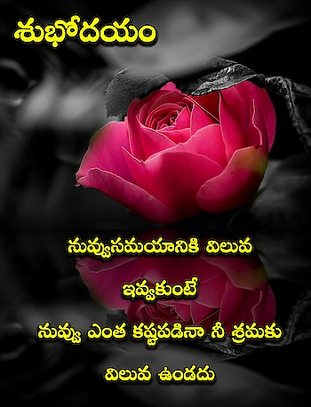 good morning quotes #quotestelugu #quotesforyou #foryou #foryourpage #quotes #quotes_daily #telugu-roposo #teluguqoutes #goodmorning #goodmorningpost #good-morning #goodmorning-roposo #goodmorningfriends #dailywishes #emotionalstatus #motivationalquotes #roposo-morning #roposo
