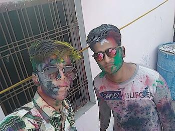 full Masti was on holi❤🎨🌈 #rangoli #holi #celebration #colourful #people #freindsforever #swag