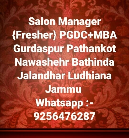 "#SalonjobsinPunjab #Ludhiana #Patiala #Jalandhar #Pathankot #Amritsar #Batala  #Jobs #Salonjobs #Hairjobs #hairstylist #Makeup #skincare #beauticians #pedicurist  #Nailart #Frontdesk #Telecaller #Marketing in given location trails updates just Click on link on ""Quick Resume"" Submit or Whatsapp 9256476287 or Email:- kainthconsultancy@gmail.com  http://kainthconsultancy.com/salon-jobs-in-north-india/"