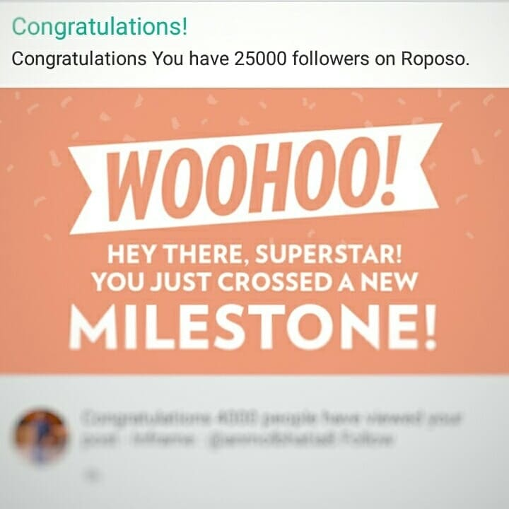 Thankyou everyone we have now crossed 25,000 followers.💙💙💙  Keep supporting and I will keep surprising with my work.  @roposotalks