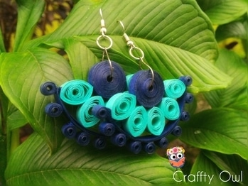 """A glimpse of our beautifu l"""" Blue Moon"""" earrings😆 DM to shop📩 don't forget to follow us on Instagram and Facebook 😉 #crafftyowl #creativebug  #creativeart #bluemoon #earringsaddict #earringshop #earringlove #earringsoftheday #potd #navyblue #torquoise #beautiful #pretty #quirky #trendy #getthelook #shoponline #instastyle #fashion #fashionista #stylefiles #instagood #instadaily #handmadeearringsbycrafftyowl #bluemoon    #beauty #navyblue #handmadeearrings"""