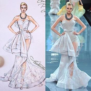 Designer #fashiontips #designer #western-dress #illustration