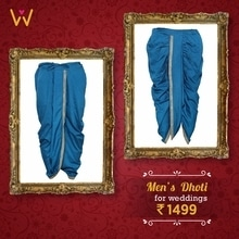 #WedLista #FashionForWeddings #Dhoti #Menswear #Weddingwear #indianweddings #shoponline #shopnow #roposoformen #EthnicWear #traditionalwear