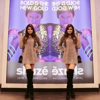 From the launch event of @shazeindia 's #boldisthenewgold collection.  I have been wanting to wear this fur dress since winter  🌬 has arrived. I picked it on my trip to Milan last year and to complete my winter look I paired it with these knee high boots. www.wardrobesecrets.in  #WardrobeSecrets #ShazeIndia #FashionBlogger #mumbaifashionblogger #mumbailifestyleblogger #LifestyleBlogger #lookbook #ootd  #Fashion #Style #photooftheday #like4like #instalike #bestoftheday #roposo #roposogal #jewellry #accessory #fur #dress #boots