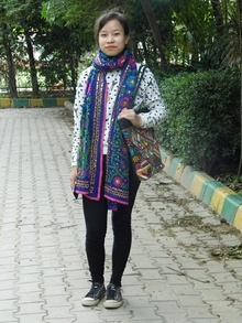 Add Color to Any Dress with ourPhulkari Stoles and Vintage KutchWork Handbags