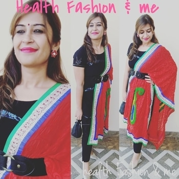 """#trendsetter #weddding #pujaready #looktodiefor #fashionblogger #mystylemantra #mystyle ##happiness #beyourself #confident #begin #mystory #latepost #roposo #soroposo #womenonroposo #RoposoTalentHunt #healthfashionme """"tenu suit suit Karda"""" 💃❤️💃"""