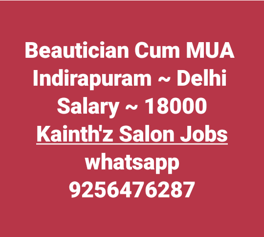 "#SalonjobsinDelhi #Jobsinindirapuram #Storemanager   #Jobs #Salonjobs #Hairjobs #hairstylist #Makeup #skincare #beauticians #pedicurist  #Nailart #Frontdesk #Telecaller #Marketing in given location trails updates just Click on link on ""Quick Resume"" Submit or Whatsapp 9256476287 or Email:- kainthconsultancy@gmail.com   http://kainthconsultancy.com/salon-jobs-in-north-india/"