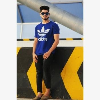 #sunset🔥  #bluelove 😍 #lookinggood  #styleblogger  #shoutout  #evening delight  #fashionblogger  #adidas #roposolook  #like4like  #follow4follow