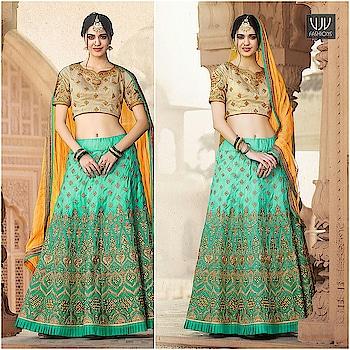 Buy Now @ https://goo.gl/hJbrJ1  Mod Sea Green Color Crepe Silk Designer Lehenga Choli  Fabric- Crepe, Silk  Product No 👉 VJV-GULZ35  @ www.vjvfashions.com  #chaniyacholi #ghagracholi #indianwear #indianwedding #fashion #fashions #trends #cultures #india #womenwear #weddingwear #ethnics #clothes #clothing #indian #beautiful #lehengasaree #lehenga #indiansaree #vjvfashions #bridalwear #bridal #indiandesigner #style #stylish #bollywood #kollywood #celebrity #outfits #vjvfashions