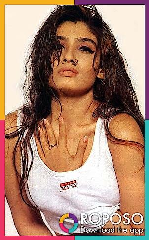 #longhair #sexy-look #sexyeyes #boldlips #nathni #tshirt #sexyfigure #hotfigrue #mastmast #raveenatandon #mohra #filmygyaan #fashion2018