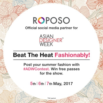 Contest Alert!! Beat the heat and flaunt your summer fashion. Post with #ADWContest  Winners get free passes to Asian Designer Week! Contest for Delhi/NCR residents only.  Hurry! Contest closes 3rd May,2017. @asiandesignerweek