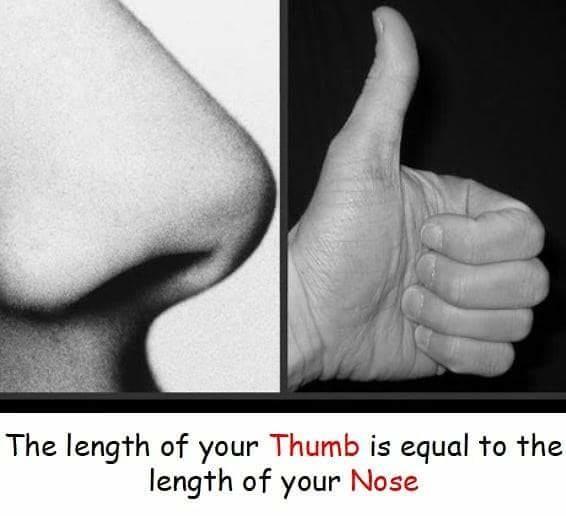 #doyou #nose #thumb