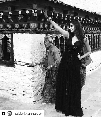 Shooting in Bhutan for a calender.. Happy to shoot again..  . . #supermodel #blackgown #fashion #fashionista #diva
