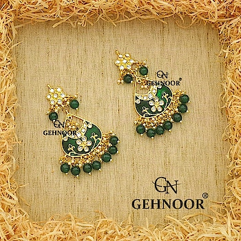 Our Love for Meenakari! That too in Gorgeous Green! 💚 . These Stunning Green Meenakari Earrings adorned with Dark Emerald Green Pearls all over is what sets our mood at Gehnoor this weekend! 💞 . Grab these Beauties at an amazing offer price! 💙👍 . www.gehnoor.com 💻 . FREE SHIPPING anywhere in India 🚙 . Cash On Delivery Available across India 💲 . WhatsApp at 07290853733 📱 . www.facebook.com/Gehnoor/ . gehnoor@gmail.com 📝 . #bride #goldjewellery #kundannecklace #traditionaljewellery #indianbride #photooftheday #instabride #bridalwear #bridaljewellery #tags #like #likeforlike #followfollow #followus #followback #gehnoor #earrings #chandbali #kundan #everydayphenomenal #fashionblogger #indianfashionblogger #meenakari