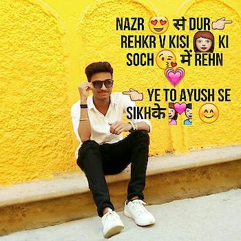Nazr 😍 से Dur👉 Rehkr v Kisi 👩 Ki Soch😘 में Rehna💗  👆 Ye To Ayush Se Sikhके 💑  😊  #likeforfollow #love #tv #a top view... #model #photography #viral #loverz #gf #supportme #shades #hahatv #like4follow