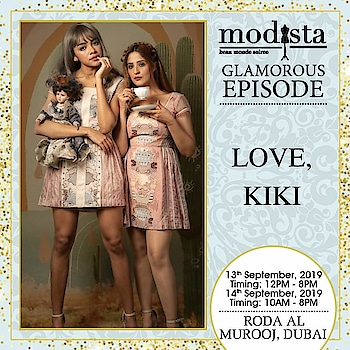 Get your hands on equal parts of sophisticated and chic ensembles by Love, Kiki.  Drop by and shop at Modista, Roda Al Murooj, Dubai on 13th & 14th September.  . . . #Modista #Modistadxb #lovekikiofficial #lifestyle #exhibitions #premium #India #fashion #couture #homedecor #accessories #style #luxury #grandeur #fashionistas #underoneroof #savethedate #modistarocks #bollywood #celebritydesigners #dubaievents #festivewear #dubaifashionbloggers