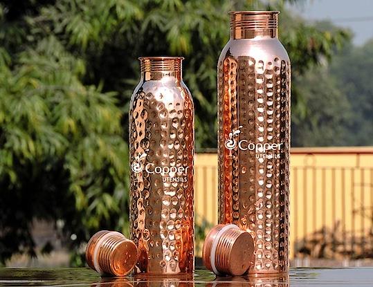 Copper Water Bottle Set
