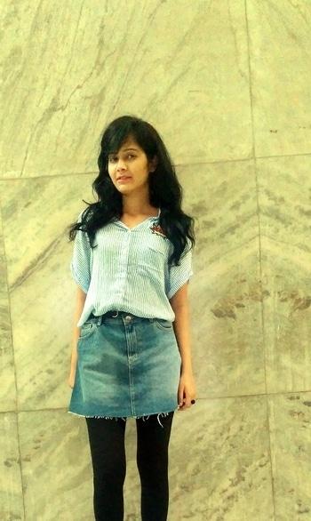 Summer layering and Denim skirt!! #fashionblogger #roposoblog . #ootd details: Skirt :H&M     #delhibloggergirl #denimlove #denimskirt                            @roposocontests @roposotalks  #streetstyle