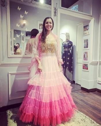 #happystart to today as we see prettiness at #StudioNityaBajaj   Tassels and gathers making a perfect combination @labelnityabajaj  #happytrials #happycustomers #occasionwear #gathers #ruffles #stylefiles #labelnityabajaj #bespoke #eveningdress #eveninggown #eveningwear #shadesofpink #ombre #pink #fashion