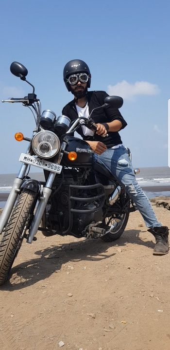 It's not about destination,it's about the ride. #bikerider #bullet #bulletjournal #jacketstyles #adventuretime #bootslove #blogger #blogginglife #blogginggoals #lifestyleblogger #modeldiaries #beard-model #luxuryfashion