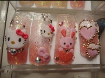 3d press on nails...excited to try them....it's from Korea...totally in love with this cute art