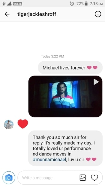 Thank you so much sir for reply me on Instagram, luv uhhhhhh sir ❤❤ #tigershroff #tigershrofffan   #roposo #roposolove #roposome #roposoaddict #roposodaily