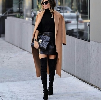 #leatherskirt #cool #winterstyling