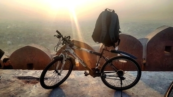 And again, nahargarh second time. #cycling #cycle #health #sports #fitness #nevergiveup #sunset  #healthtips