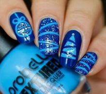 #christmas#nailart#blueskyblue#nailartlove#like4like#foloow4follow