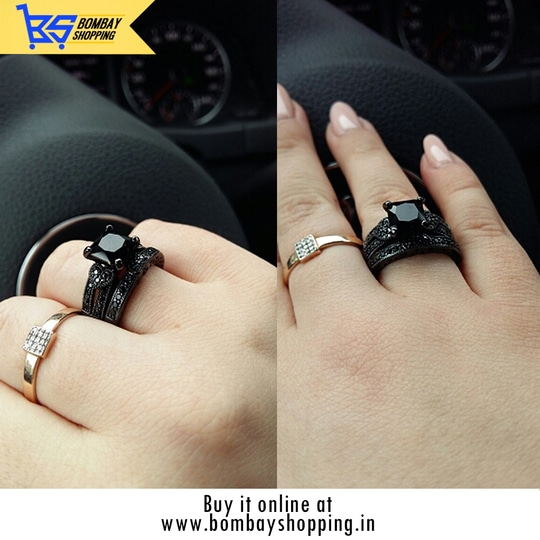 2pc Gun Metal Black Ring RS 699/- Size: 8/9 CASH ON DELIVERY AVAILABLE!  See our entire range of products and PLACE YOUR ORDER AT www.bombayshopping.in Whatsapp: 9773772880  #shoppingtime #indianshoppers  #bombayshopping #ring #blackring #codindia  #cashondelivery #deliveryinindia #fashionaccessories #ringsoftheday  #rings