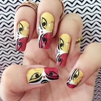 #durgapuja  #navratricollection #nail-addict  #nailart ...
