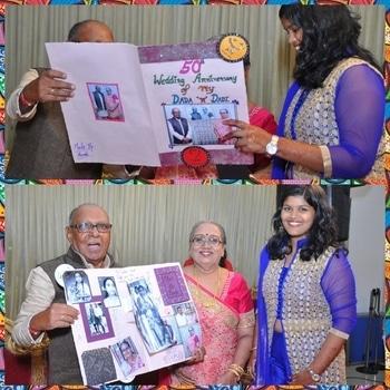 Made greeting card for my Dada's 'n' Dadi's 50th Wedding Anniversary #lastyearspic #frmheart #greetingcard #50thWeddingAnniversary #DadaDadi #luvthem #thankyougodforeverything❤❤❤❤❤❤❤❤